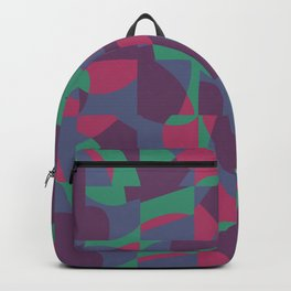 Retro-Inspired Geometric Pattern in Desaturated Jewel Tones Backpack