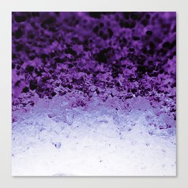 Purple Crystal Ombre Canvas Print