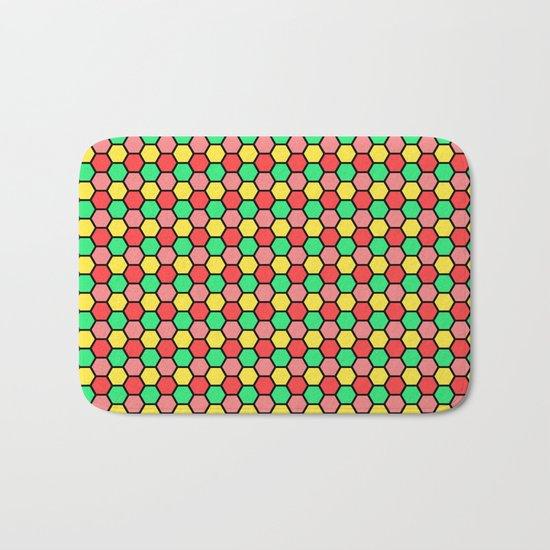 Happy Honeycombs Bath Mat