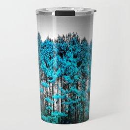 Turquoise Trees Gray Sky Travel Mug