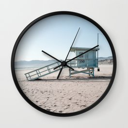 Santa Monica Beach Summer Evening Wall Clock