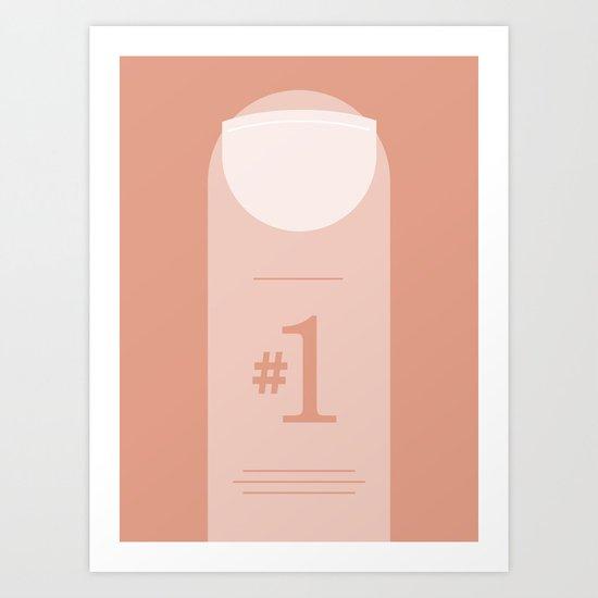 Number 1. Art Print