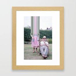 Janine & Alfred in the Garden Framed Art Print