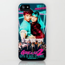 Neon 80's Grease 2 Poster iPhone Case