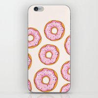 donut iPhone & iPod Skins featuring Donut by Ceren Aksu Dikenci