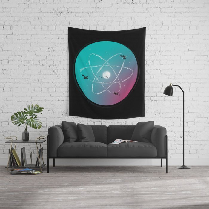 Atomic Formation Wall Tapestry