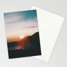 On top of Mount Batur Stationery Cards