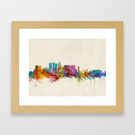 Cape Town South Africa Skyline Framed Art Print