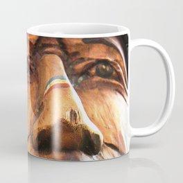 Wooden Native American Indian Coffee Mug