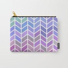 blue & purple chevron Carry-All Pouch