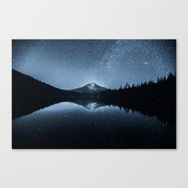 Trillium Lake Stars And Milky Way   7-25-19 Canvas Print