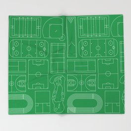 Sport Courts Pattern Art Throw Blanket