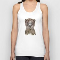 otter Tank Tops featuring little otter by bri.buckley
