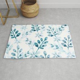 Watercolor Floral Pattern (Winter Version) Rug