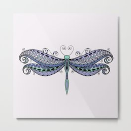 Dragonfly dreams purple Metal Print