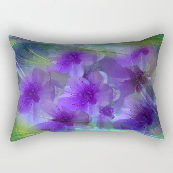 Violet Flower Garden Abstract Rectangular Pillow