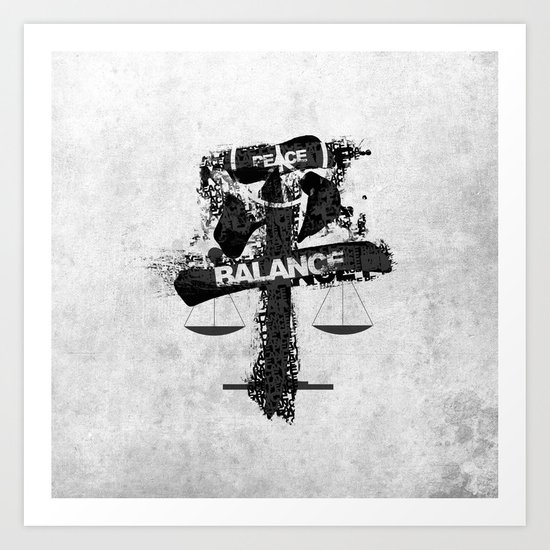 peace and balance Art Print