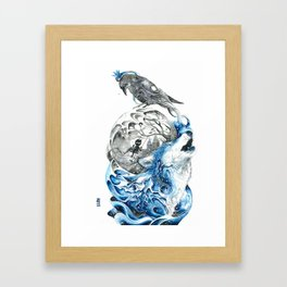 Lonely Wolf Framed Art Print