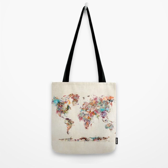 world map watercolor deux Tote Bag