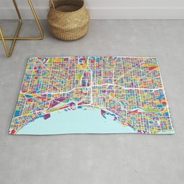 Milwaukee Wisconsin City Map Rug