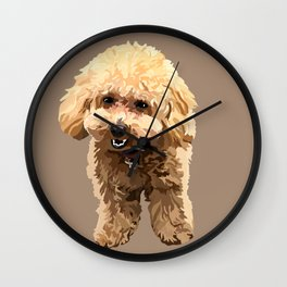 Muffin the toy poodle Wall Clock