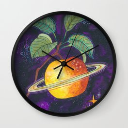 Space apple Wall Clock