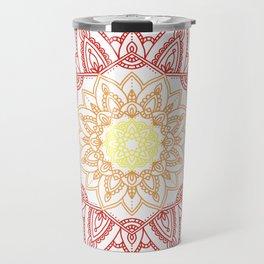Warm Mandala Travel Mug