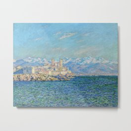 Claude Monet Antibes Afternoon Effect Metal Print