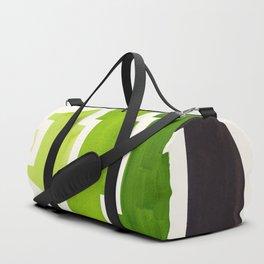 Sap Green Watercolor Minimalist Mid Century Modern Tribal Aztec Pyramid Pattern Duffle Bag