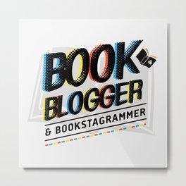 Book Blogger Metal Print