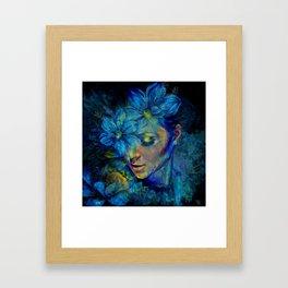 OLD NEW BORROWED BLUE Framed Art Print