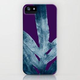 Midnight Sepia Navy Blue Purple Fern iPhone Case