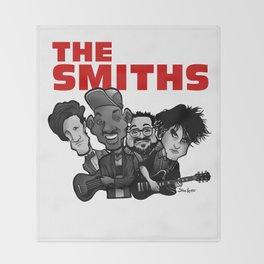 The Smiths (white version) Throw Blanket