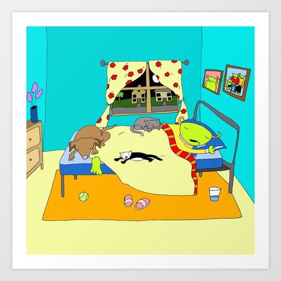 Sleepy Times Art Print