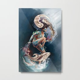 Sedna: Inuit Goddess of the Sea Metal Print