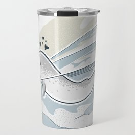 The Friendly Narwhal Travel Mug