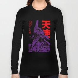 Evangelion robot kanji Chiffon Top t shirt Long Sleeve T-shirt