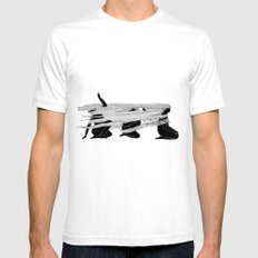 Face the wind SMALL Mens Fitted Tee White