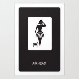 AIRHEAD Art Print