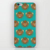 majora iPhone & iPod Skins featuring Tiki Majora by Paula García