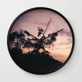 Stunning sunset in Palomino, La Guajira, Colombia Wall Clock