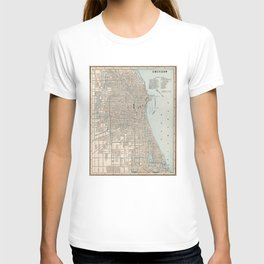 Vintage Map of Chicago (1893) T-shirt