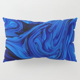 Blue Liquid Marbled texture Pillow Sham