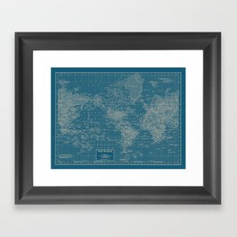 The World According to US Framed Art Print