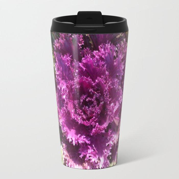 Getty Villa Garden Malibu  Purple Plant Travel Mug