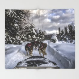 Running With the Dogs Throw Blanket
