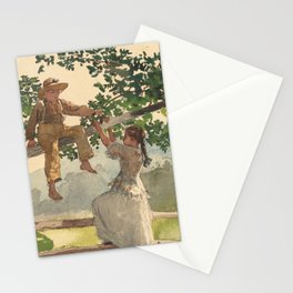 Winslow Homer's on the Fence (1878) Stationery Cards