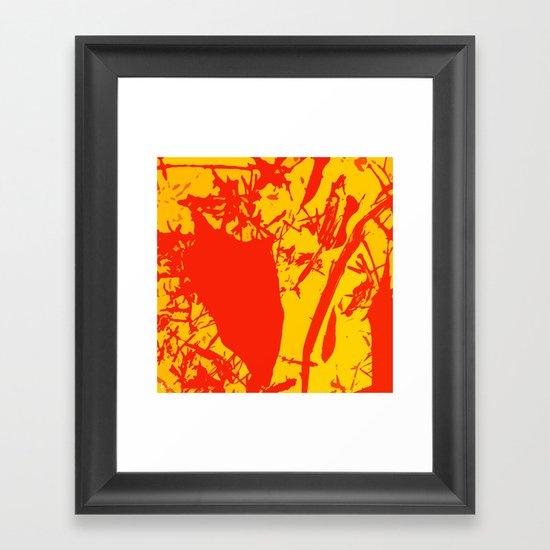 Straw men Framed Art Print