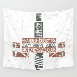 Emblem racing club in retro style Wall Tapestry