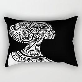 Black & White Regal Black Woman Rectangular Pillow